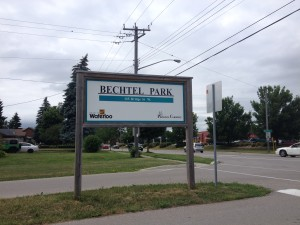 bechtel park sign