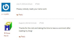 blog comment reply