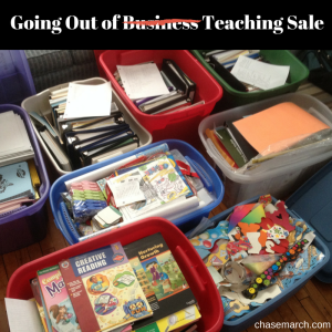 Going Out of Teaching Sale