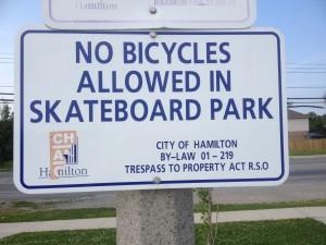 No Bikes Allowed