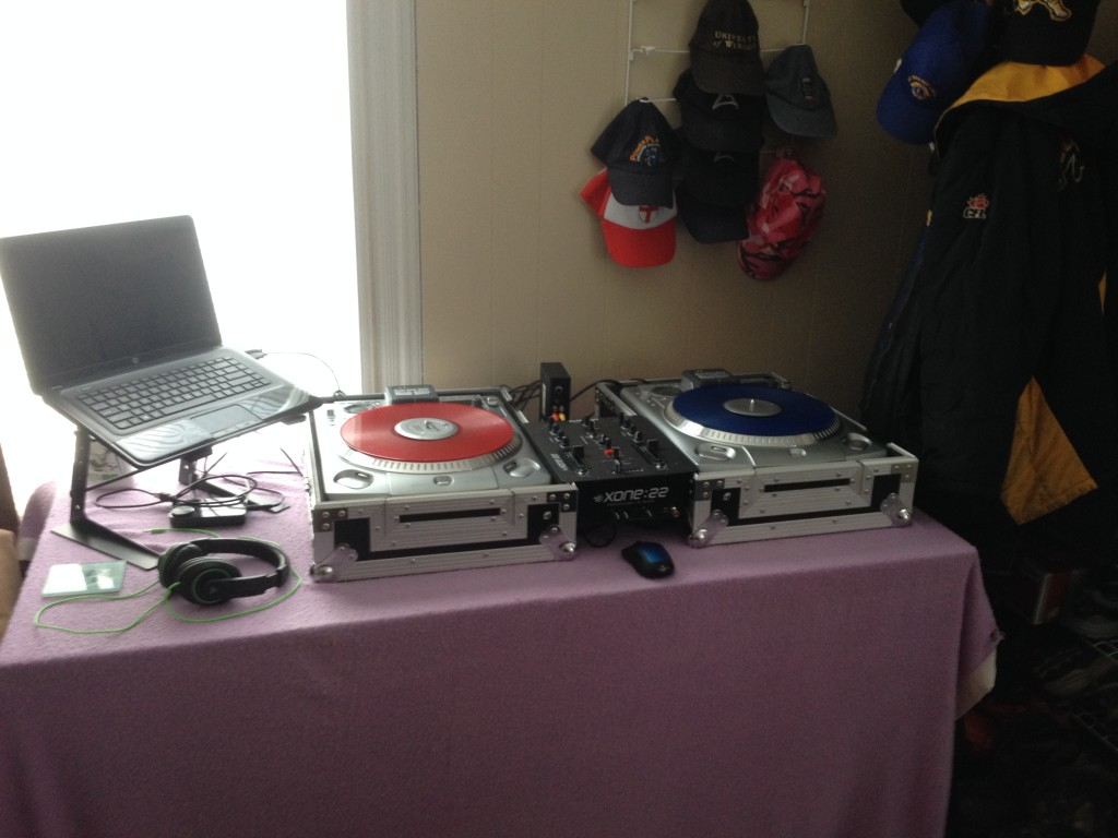 Chase March home DJ set-up