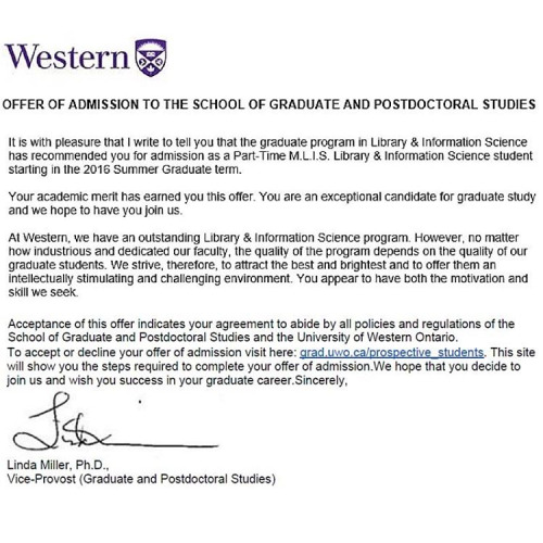 Western University Letter