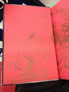 DD hardcover autographs