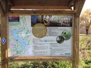 Fanshawe Lake Trail Sign