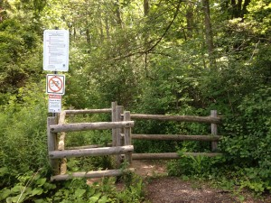 Kains Woods Shore Rd Entrance