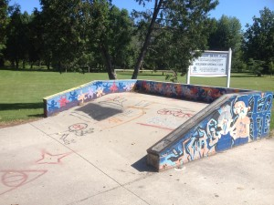 One half of the half-pipe
