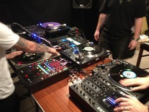 Multiple DJ rigs