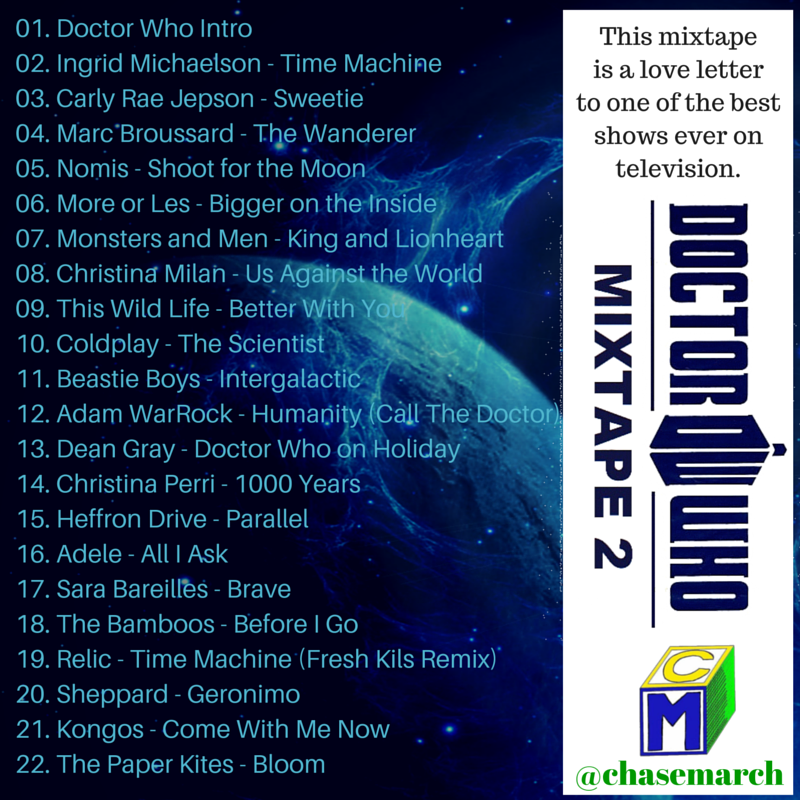 Doctor Who Mixtape 2 Back Cover