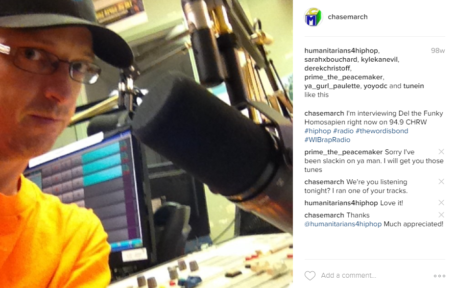 Chase March Radio Selfie
