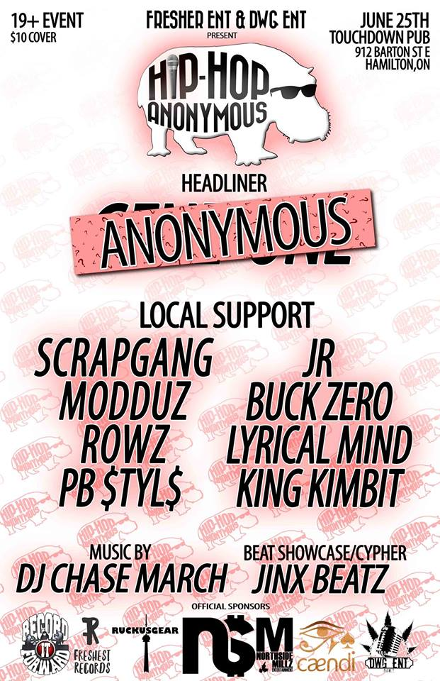 Hip-Hop Anonymous Hamilton