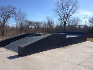 Launch Ramp with Mini-quarter pipe