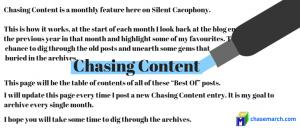 Chasing Content - November 2018