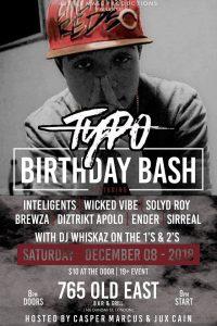 Typo Birthday Bash Poster