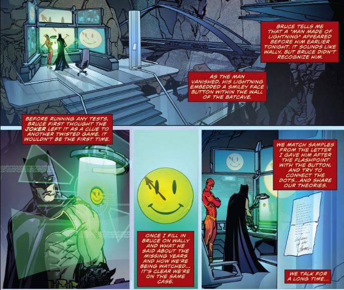 Flash-Batman-Comedian panels