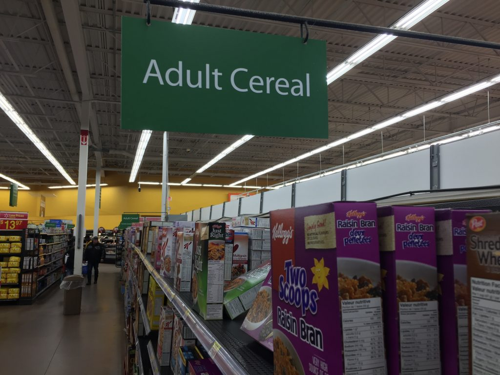 Adult Cereal Store Sign